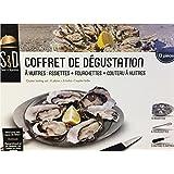 Saveur et Degustation KDO8584 Oyster 不锈钢套装 26.5 x 22.5 x 1.5 厘米 银色