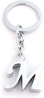 迪诺卡(Dinoka) 钥匙扣 钥匙扣 钥匙链 字母 传递器 吊坠钥匙扣 合金 挂坠 车挂饰 手提包 电话挂坠 创意礼物 (银色M)