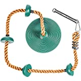Soarin Supply Co... 儿童攀岩绳,带*固定平台和圆盘秋千座椅 - 秋千套装附件配件 绿色