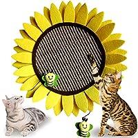 GiftParty 猫抓板—14 英寸(约 35.6 厘米)向日葵耐用剑麻板猫抓板猫家具互动活动玩具,适合小猫