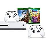 Xbox One S 1TB 双控制器控制台 + Forza Horizon 4 - 标准版 + Spyro Trilogy Reignite(Xbox One)