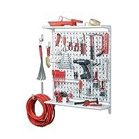 Element System 11300-00015 工具钉板整理器 3 由金属/DIY 工具套件德国制造/72 件工具支架套件/螺丝和壁塞/白色