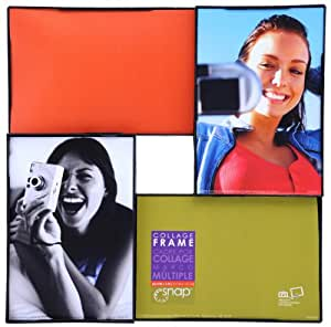 Snap Black 4-Opening 3D Collage Frame, 10-Inch by 10-Inch