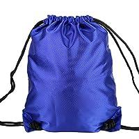 篮球袋子篮球带篮球包训练包足球包装备包简易运动背包抽绳双肩包黑色菱形格斜杠