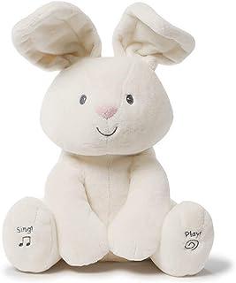 Baby GUND Flora 逼真毛绒填充兔子玩具,奶油色,12英寸/约30.48厘米