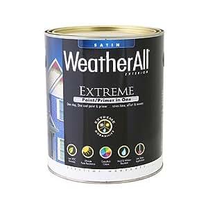 True Value mfg company waes2-qt WAES2,真正价值,优质Weatherall Extreme 漆/底漆,QT,黑色,外部缎面漆
