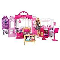 Barbie 芭比 芭比闪亮度假屋 带娃娃 CFB65