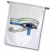 badhead gadroon sigils 和设计–蛋白石 EYE OF RA 埃及长绒 pagan 艺术–旗帜 12 x 18 inch Garden Flag