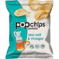 popchips 海鹽酸醋味薯片 無麩質 低脂 不含人工調味料