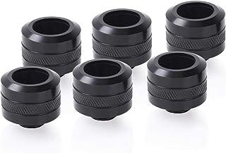 Alphacool Eiszapfen PRO 硬管接头 G1/4,16 毫米外径,深黑色,6 件装