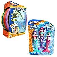 游泳泳池潜水玩具,潜水环和鱼与鱼潜水套装,捆绑
