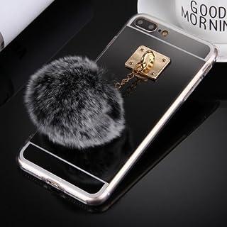alsatek Tpu 保护套适用于 iPhone 4 带集成绒球黑色钥匙圈