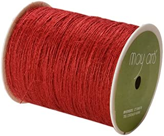 May Arts Ribbon, Red Burlap String