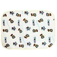 袋鼠宝宝 纯棉毛巾防水隔尿垫 推车隔尿垫 婴儿隔尿垫 颜色随机 (50*60cm (2片装))