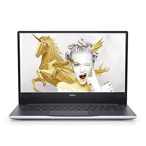戴尔 DELL 灵越燃7000 II 7472-R1625S 14.0英寸轻薄窄边框笔记本电脑 (四核i5-8250U 8G 1T+128G SSD MX150 2G独显 IPS WIN10)银色