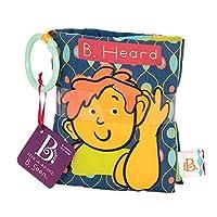B.Toys 比乐 听声音布书多彩触感手抓可撕咬发声布艺玩具阅读婴幼儿童玩具6个月+BX1172Z