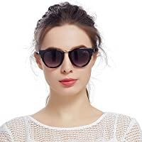 Jardin d'amour 太阳镜女优雅长脸墨镜显瘦潮个性简约遮阳舒适驾驶镜JS3101BK(亚马逊自营商品, 由供应商配送)