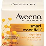 Aveeno Smart Essentials Nighttime Moisture Infusion Facial Moisturizer, 1.7 Ounce (Pack of 3)