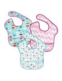 bumkins 防水超级围嘴3件装6–24个月 ) Umbrella/Raindrop/Pink Chevron 6-24 个月