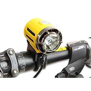 DULEX D02 超亮可充电自行车大灯 - 防水 LED 自行车灯 - 包括电源电池组包和充电器 - 方便安装自行车*手电筒
