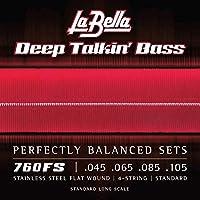 LaBella 760FS 不锈钢 低音吉他弦,中号