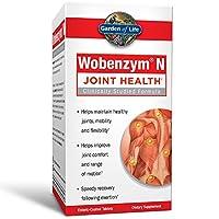Garden of Life - Wobenzym N健康和联合支持 - 100 Mucos以前分布的伤寒上漆的片剂