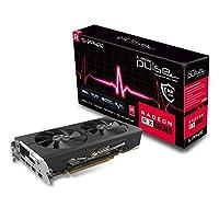 Sapphire 11265-05-20G Radeon Pulse RX 580 8GB GDDR5 雙 HDMI / DVI-D / 雙 DP OC,帶背板 (UEFI) PCI-E 圖形卡顯卡