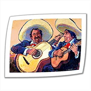 Art Wall Mariachi de Cabo 18 by 22-Inch Unwrapped Canvas Art by Rick Kersten with 2-Inch Accent Border