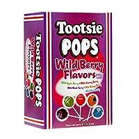 Tootsie Pops 什锦野生浆果口味,巧克力中心巧克力味,3.75 磅,100 个赠品盒,不含花生 Assorted Wild Berry 100-Count