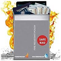 Scuddles 防火袋,防火,适用于家庭或墙壁保险柜 15 X 11 INCHES Fireproof documents bag
