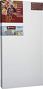 Masterpiece 3D Pro 2-1/2-Inch Tahoe Heavy Canvas, 15-Inch by 24-Inch, Acrylic Primed