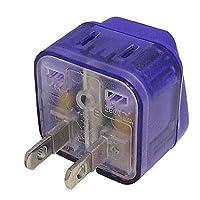 【套装】 MCO ( 公司 ) Miyoshi 海外电源插头转换适配器 A 款 MBA - PA  蓝色 【1個】