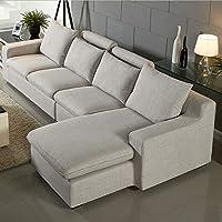 【下单赠价值998元真皮圆凳1个】ZUOYOU 左右 布艺沙发可拆冼简约现代沙发L型转角沙发木质沙发DZY2506 转二加休反向8024-4质感灰
