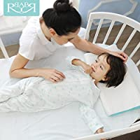 Babyruler 贝珑儿 婴儿床实木 多功能宝宝童床实木圆床 环保可变书桌 象牙白 … (婴儿床+床垫)