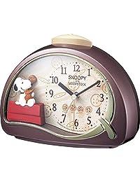 节奏手表史努比 (史努比) 闹钟 R506 ブラウン(クッキー)