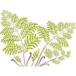 树蕨类模板 - 可重复使用的墙模板 - 用于绘画 - *佳质量墙壁艺术装饰想法 - 用于墙壁、地板、织物、玻璃、木材、陶罐等. 中 4336893128