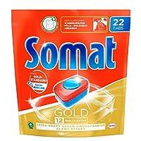 Somat Spülmaschinen-Tabs 12 Gold, Jahresvorrat, Multi-Aktiv, Extra-Kraft gegen Eingebranntes, Glanz-Effekt, 176 (8 x 22) Tabs