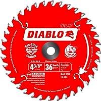 Freud D0436X Diablo 4-3/8 英寸 36 齿 ATB 无绳装饰锯片,20 毫米的弓形和 0.95 厘米减径衬套