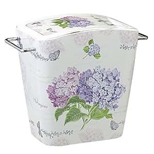 SHALL希尔 紫阳花系列高级翻盖式垃圾桶SLRY987