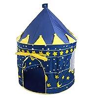 儿童室内帐篷玩具屋 王子蒙古包公主城堡帐篷儿童游戏屋爬行屋 (蓝色)