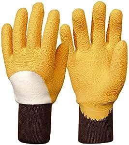 Tierra Garden 17-001424Y6 Rostaing Rosier 乳胶涂层棉手套 黄色 17-001448Y8