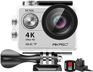 AKASO EK7000 4K WiFi 運動相機 超高清防水 DV 攝像機 12MP 170 度廣角EK7000SL  銀色