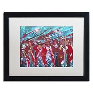 """Trademark Fine Art Battle of Trenton Moderne by Lowell S.V. Devin Frame, 16"""" x 20"""", White Matte"""
