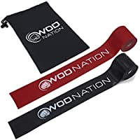 Muscle Floss Bands by WOD Nation - Recovery Band for Tack and Flossing Sore Muscles and Increasing Mobility - Stretch Band Includes Carrying Case