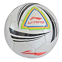 LINING李宁  5号足球 标准足球 PU足球  LFQH008-1/006-1/004-1训练系列 (白蓝红004-1)