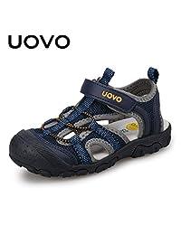 UOVO 优沃 儿童凉鞋户外运动凉鞋包头护脚魔术贴男童沙滩鞋 密西西比【请参照图片中的尺码表选购】