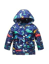 儿童轻型夹克连帽风衣,适合女婴男孩带网眼内衬的雨衣