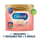 Enfamil 美赞臣 A.R. LIPIL 防吐奶配方 婴儿 1段奶粉 118.1盎司(3348g)混合包装 (610g/罐 ×1罐 和456g/盒×3盒,外观可能不同)