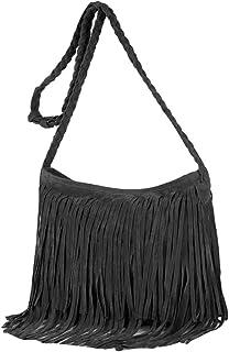 Heidi Hobo 嬉皮流苏人造麂皮单肩斜挎包女士吊带包