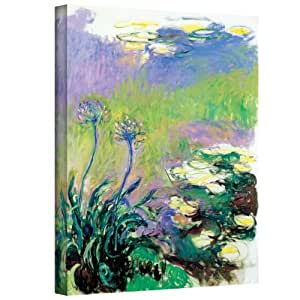 Art Wall Agapanthus Gallery Wrapped Canvas by Claude Monet, 18 by 24-Inch